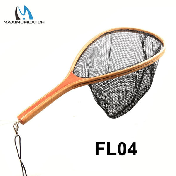 Quality Trout Fly Fishing Landing Net Clear Rubber/Mesh Catch & Release