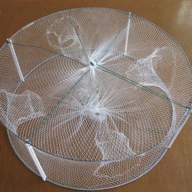 Round Portable Cast Fishing Net for Shrimp, Minnow & Crab