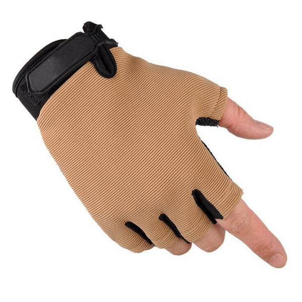 Tactical Camouflage Fishing Half Finger Gloves Anti-Slip Touch Screen