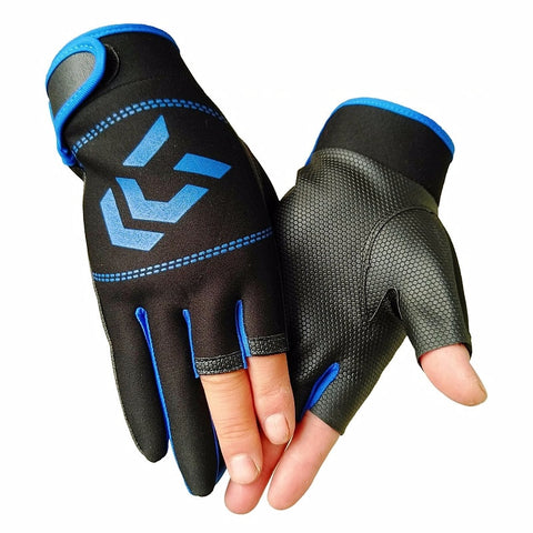 Protective Sport Fishing Gloves Non-slip Three Fingers Cut
