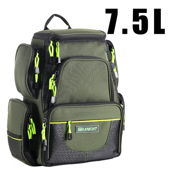 Multifunctional Backpack Large Capacity Fishing Tackle Bag 17.3 X 16.14 X 9.8 in