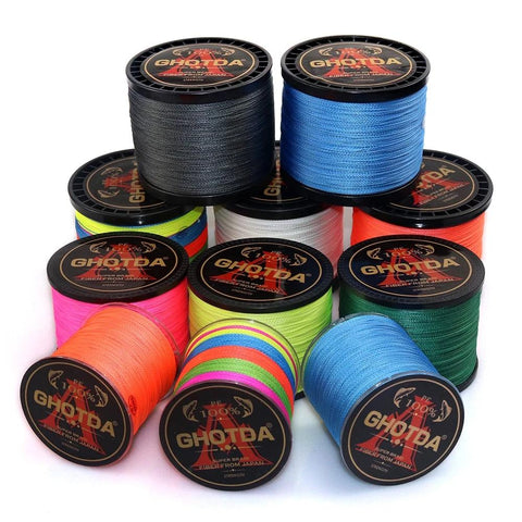 Braided Fishing line 300M 500M 1000M 4 Strands Multifilament Fishing Wire Carp Fishing 10-120lb