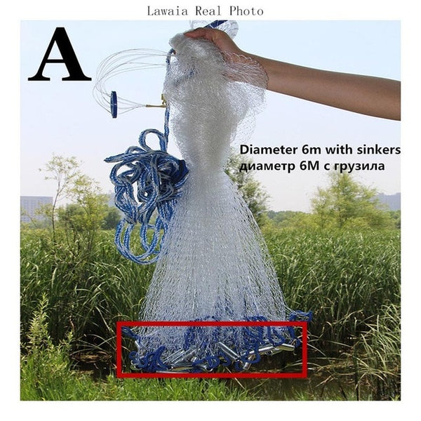 Gracious Point American Hand Cast Net 2.4m-7.2m