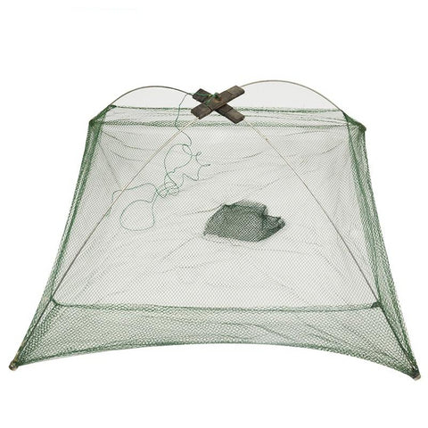 kettle Square Fish Landing Net Trap for Catching Shrimp, Crab and Small Fish