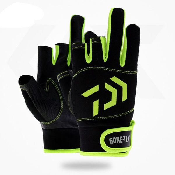 High-Quality Breathable Fishing Gloves 3 Fingers Cut Water-Proof