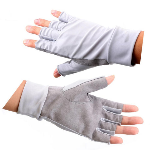 Anti-UV Sun Protection Fishing Gloves Half Finger 50+UV