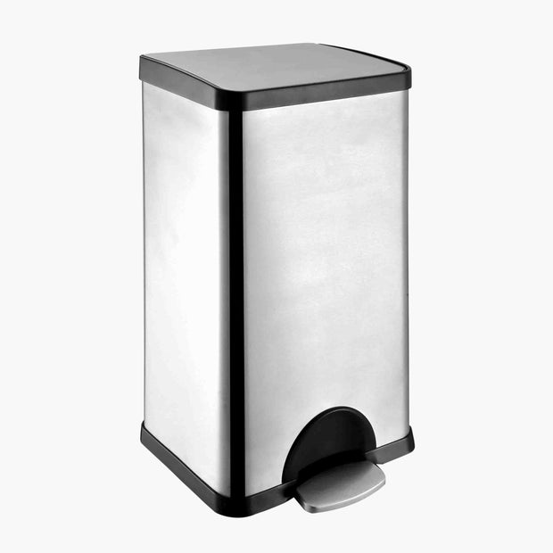 Stainless Steel 8 Gallon Step-On Trash  Bin