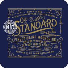 Load image into Gallery viewer, Old Standard Organic Corn Whiskey 'Moonshine'