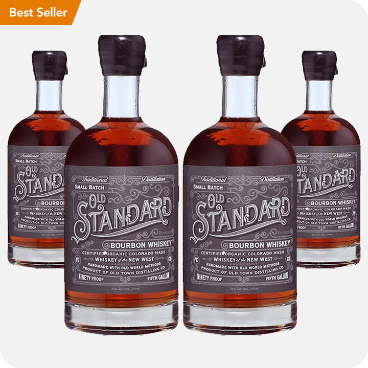 Old Standard Organic Bourbon Whiskey 4-Pack