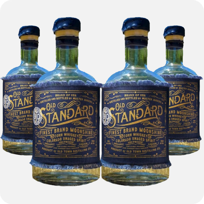 Old Standard Organic Corn Whiskey 'Moonshine' 4-Pack