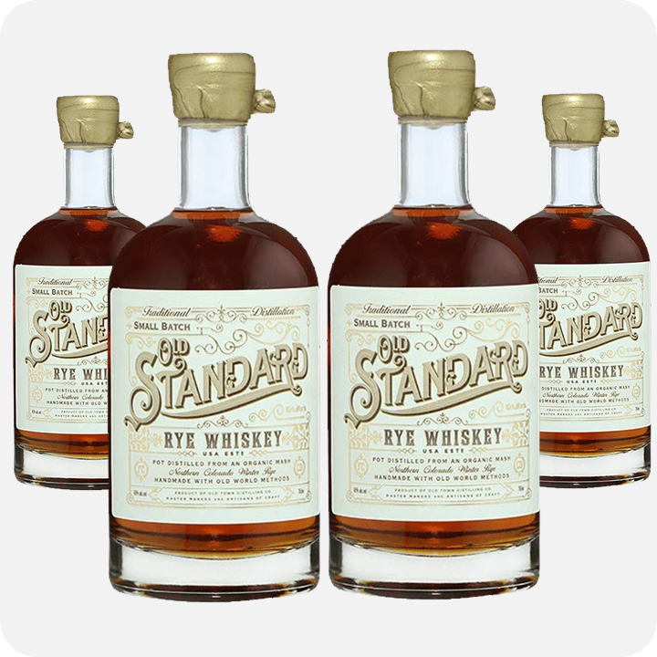 Old Standard Organic Rye Whiskey 4-Pack