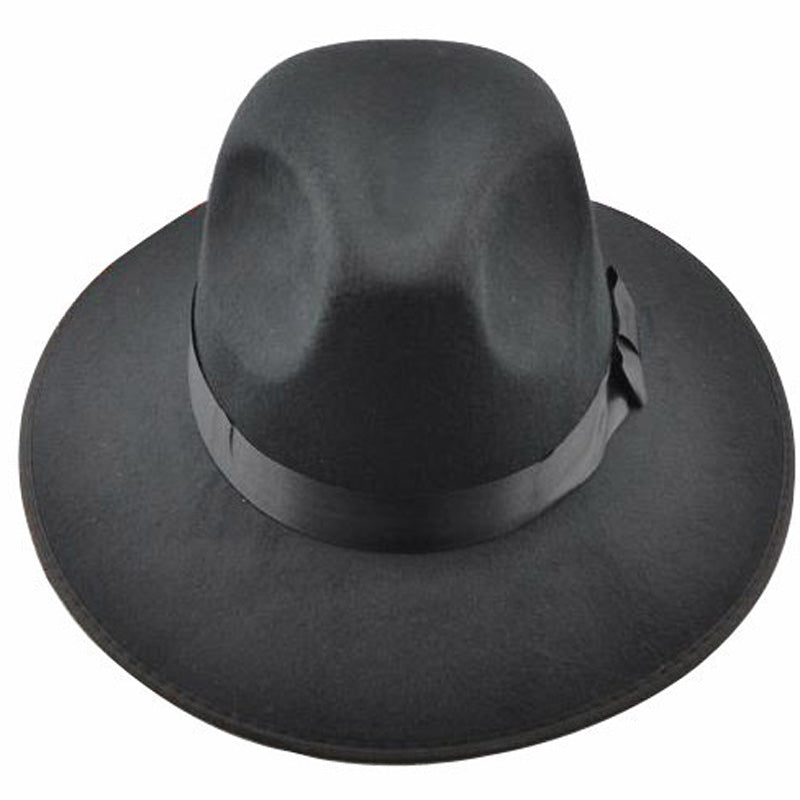 MICHAEL JACKSON Smooth Criminal&Billie Jean black Fedora suedette Hat Classic Costume!!