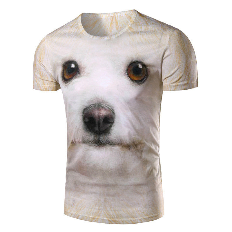 New Dog Face T Shirt Fashion 3D Print Short Sleeve