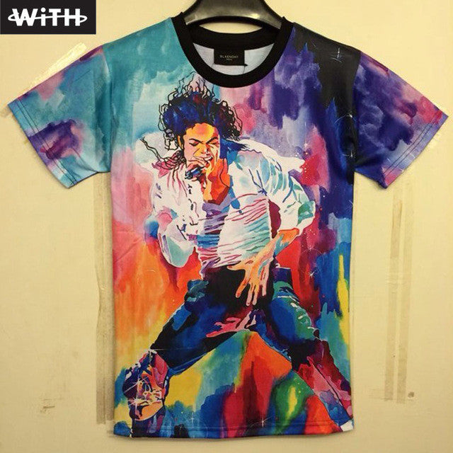 Men's T shirts Fashion 3d Print Famous Star Michael Jackson Popular American and European Graphic T-shirt  Hot Sale