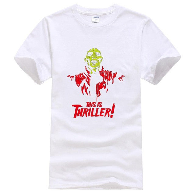 Newest Funny Mens T shirts Fashion 2017 Michael Jackson There Is Thriller TShirts Tee Cotton Print O-neck Big Size Star Style
