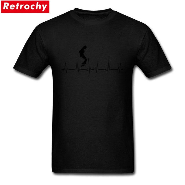 michael jackson Mens Tshirts Custom Short Sleeve Cotton Male Basic Wholesale Price Concert Shirts