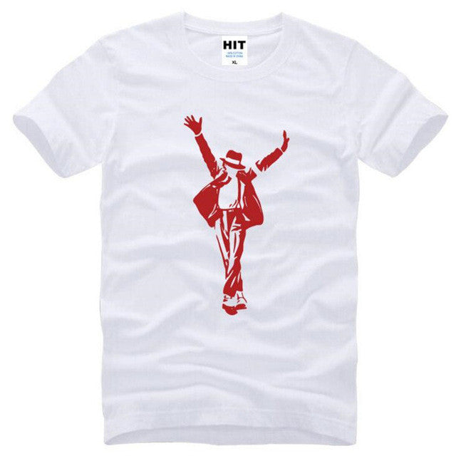 Michael Jackson MJ Dance T Shirts Men Summer Style Short Sleeve O-Neck Cotton Men's T Shirt Funny Male Top Tee Brand Clothing