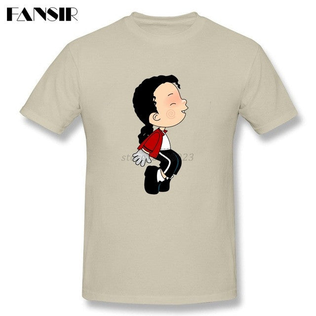 Plus Size Michael Jackson King Of Pop Cool Tee Shirts Men Male 100% Cotton Short Sleeve Men T Shirt Team Brand Clothing