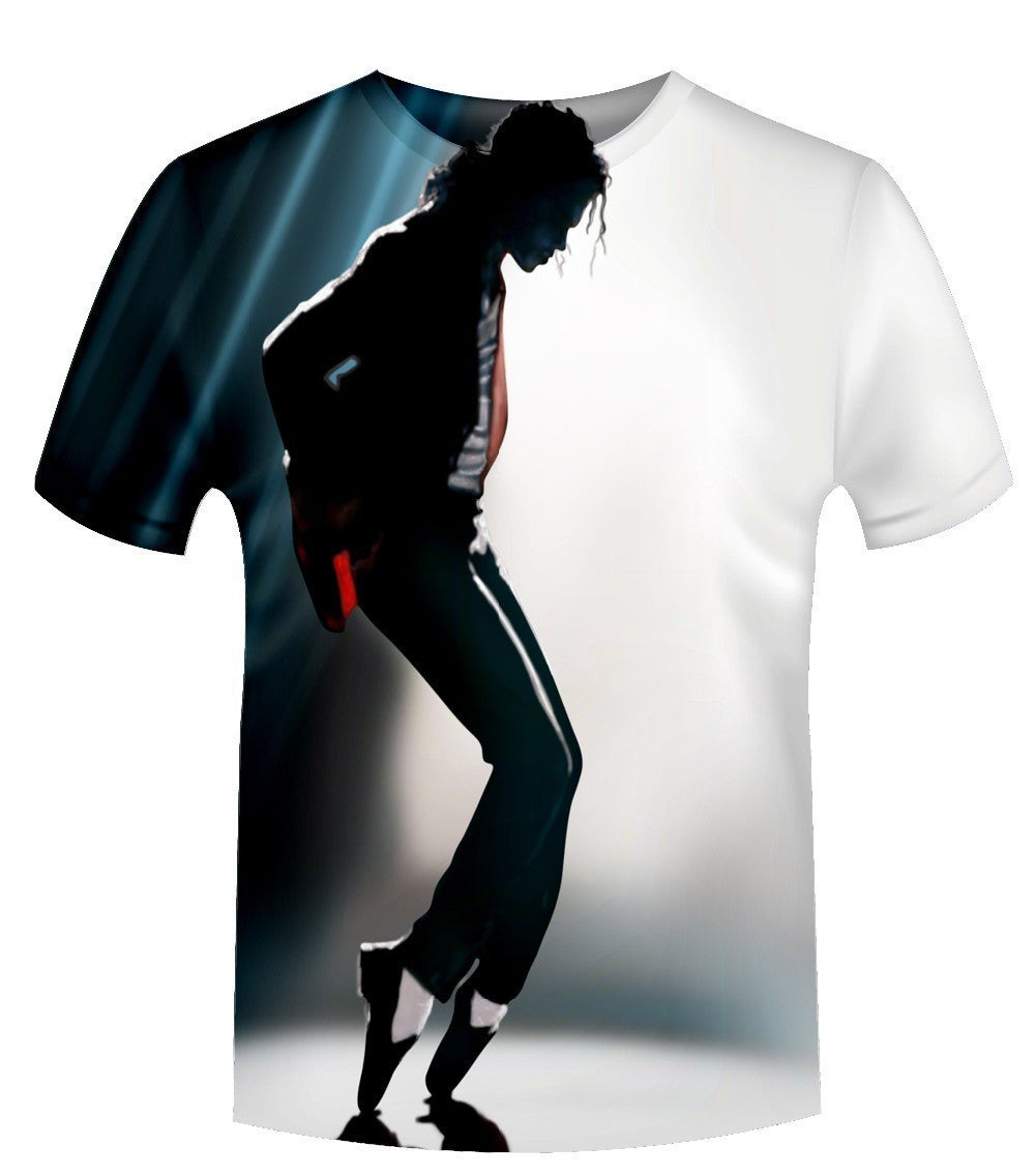 Hot Style 2017 New Fashion 3D Print Michael Jackson Graphic T Shirts Casual Short Sleeve O-neck T-shirt Female/Male Hip Hop Tops
