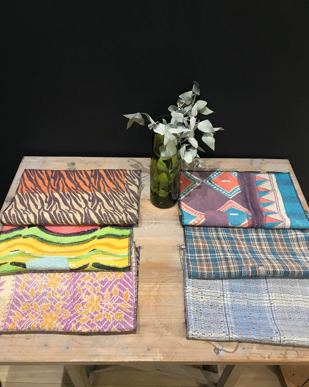 Pack de 6 Sets de Table Vintage Kantha, n° 7 - -Claire Gasparini-Halo Concept