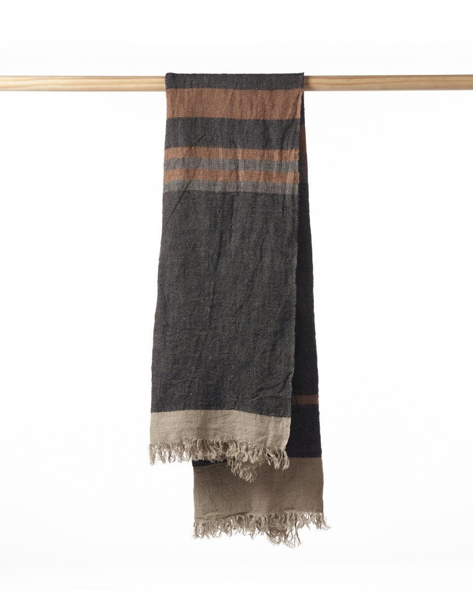 the_belgian_towel_fouta-black_stripe_Halo Concept