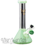 "Red Eye Tek 8"" Tall Midge Mini Beaker Tube W/ Fixed Downstem"