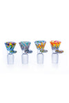 Hoss Glass Colour Reversal Cone Bowl 14/19mm