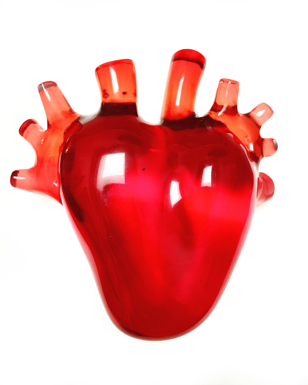 Red Corazón Resin Sculpture