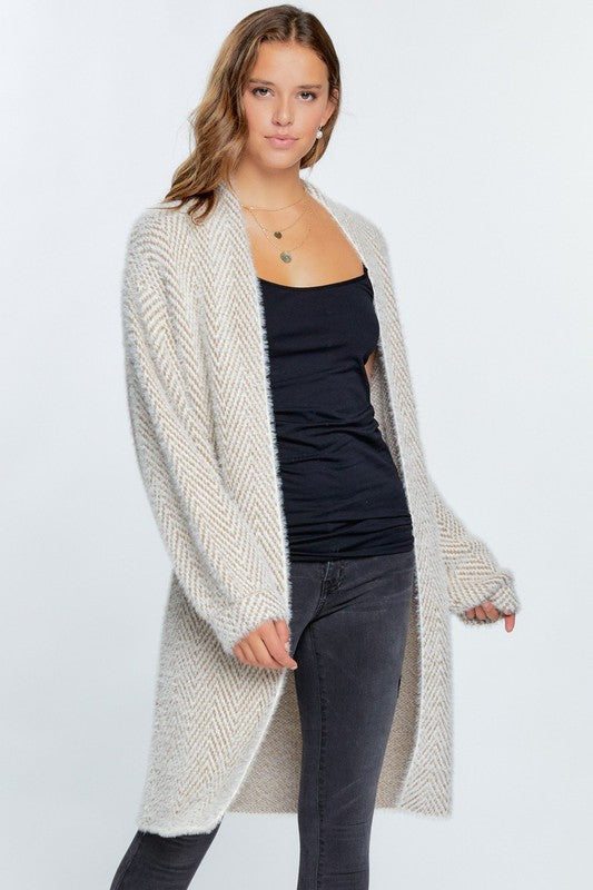 Treat Yourself Herringbone Detail Super Soft Cardigan || Simply Me Boutique