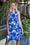 Tropical Days Dress (Navy)