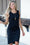 Follow Your Dreams Ruched LBD Dress (Black)