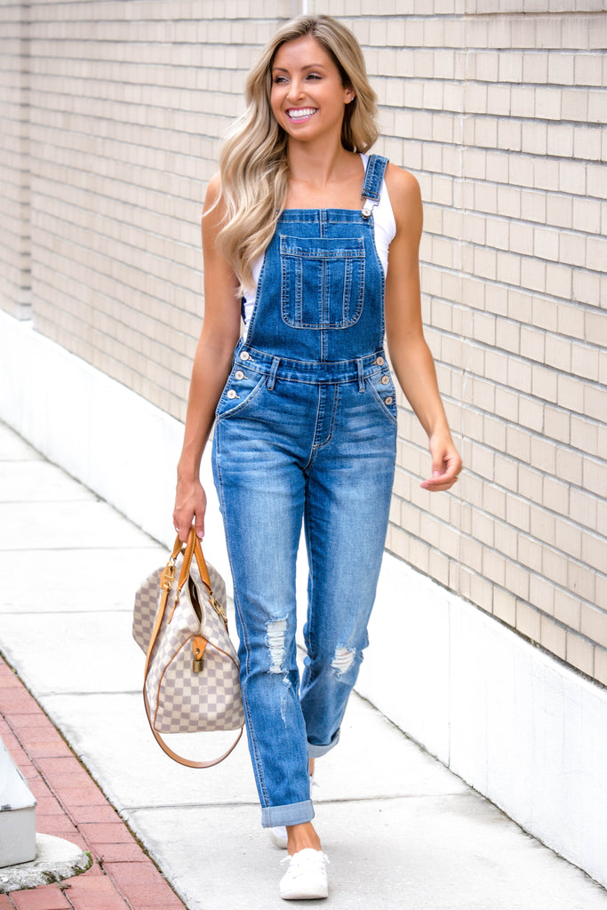 On My Way KANCAN Denim Overalls - Simply Me Boutique Shop SMB