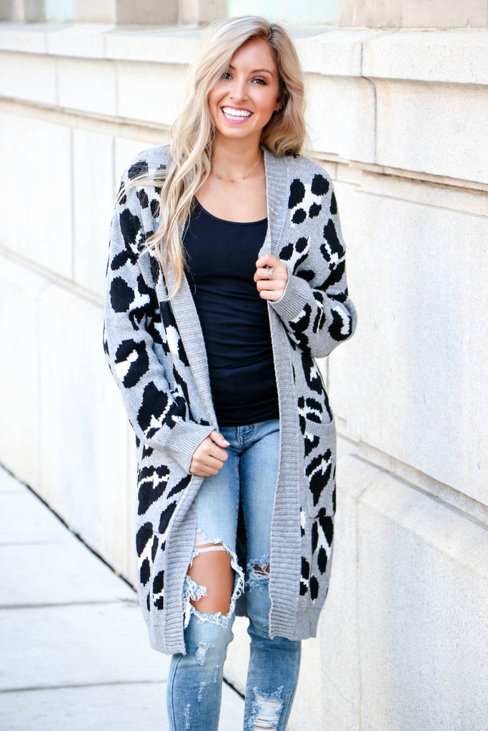 Wild Ride Leopard Print Cardigan - Simply Me Boutique Shop SMB