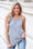 Want You Back Lace Up Cami Tunic Tank Top (Heather Grey)