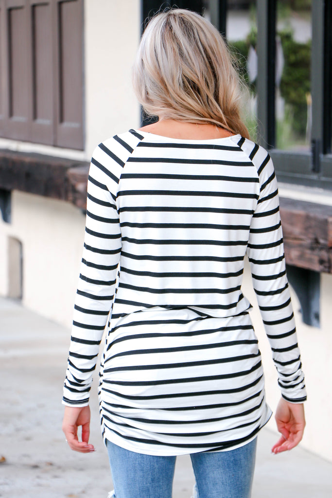 I'm Yours Striped Tunic Top - Simply Me Boutique Shop SMB