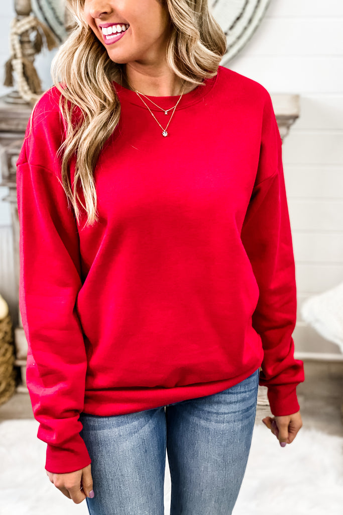 (Red) Lesson Learned Classic Fleece Pullover Sweatshirt