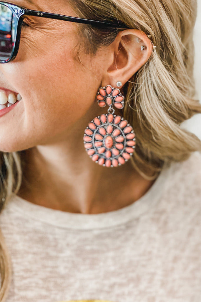 Bohemian Blossom Earrings (Peach)