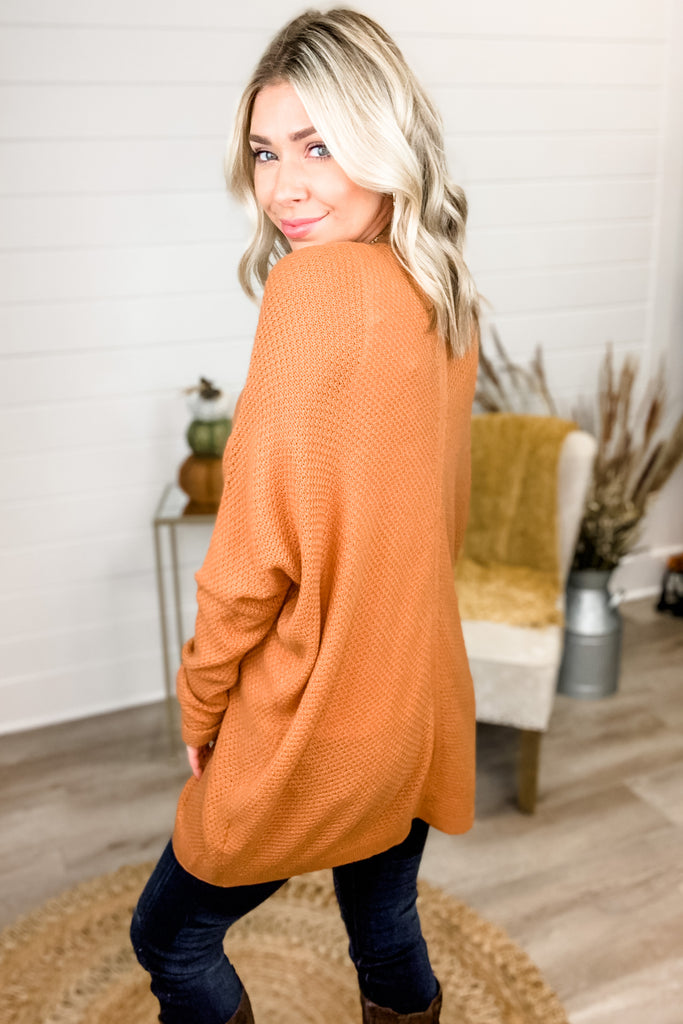 Amazed By You Knit Cardigan (Copper)