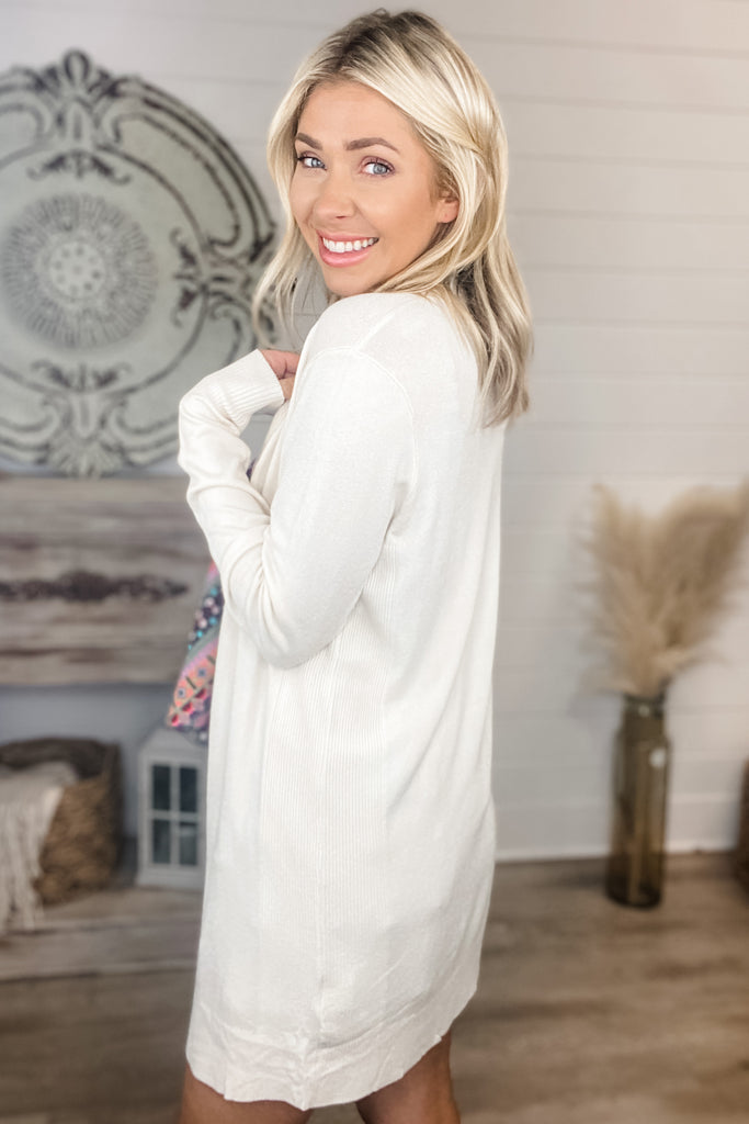 Filled With Hope Cozy Cardigan (Ivory)