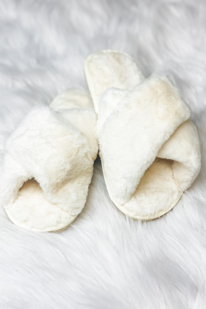 $14.99 Home Sweet Home Fuzzy Slippers!