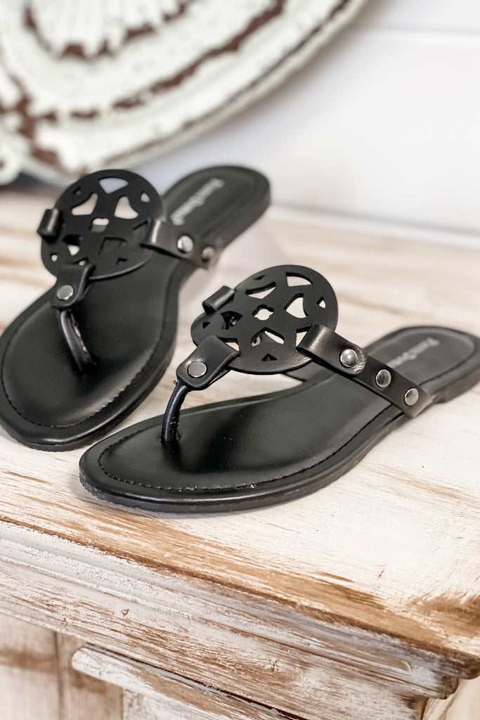 Step into Style Essential Thong Sandals (Black)