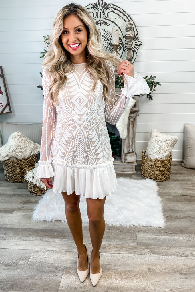 Chasing Waterfalls Ivory Lace Dress