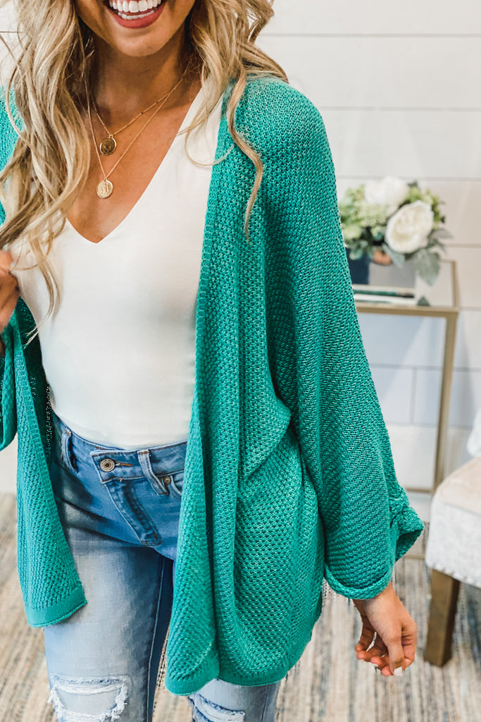 Round the World Kimono Cardigan (Mint)