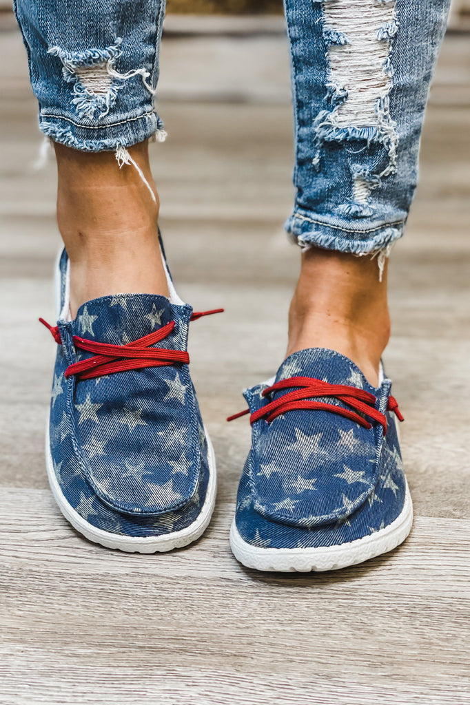 (Navy) GYPSY JAZZ What A Star Holly Slip On Boat Shoe Sneaker