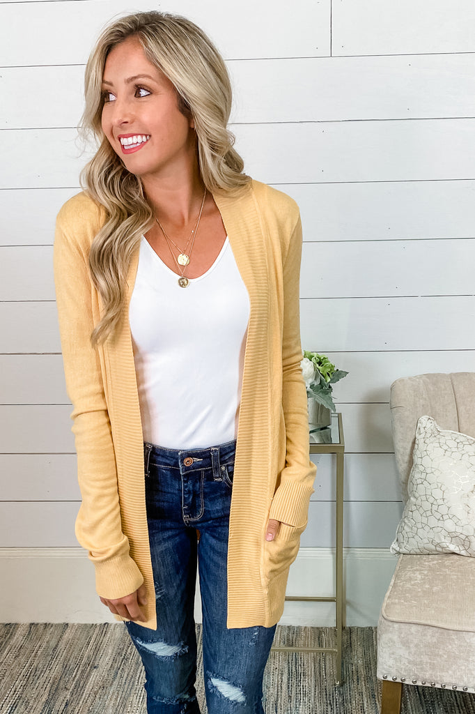 One of My Kind Cozy Cardigan (Buttercup) Simply Me Boutique Sezzle Free Shipping