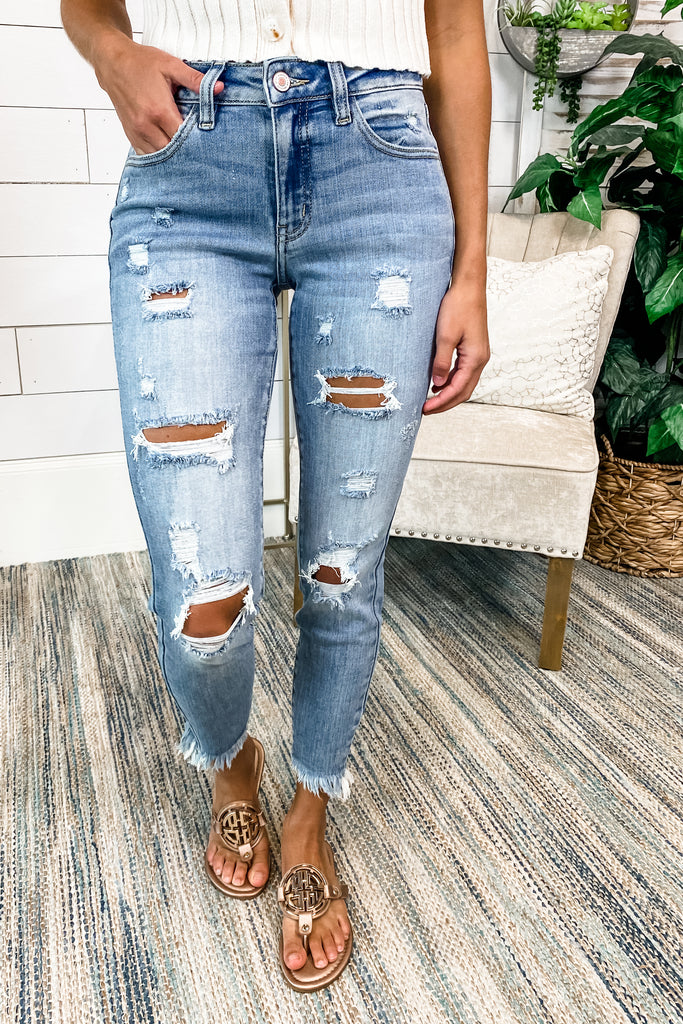 Unfinished Business KANCAN Cropped Jeans Simply Me Boutique Sezzle