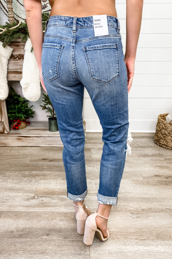 "Eunina ""Frankie"" Mid Rise Girlfriend Relaxed Fit Jeans"