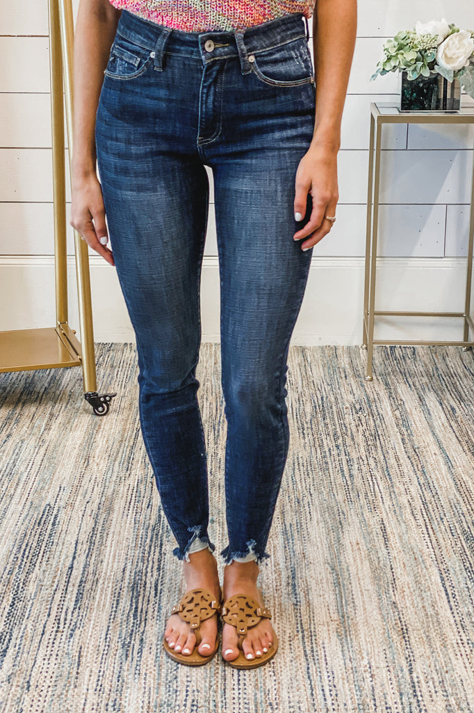 Spring in Your Step Ankle Skinny KANCAN Jeans (Dk Wash) Simply Me Boutique