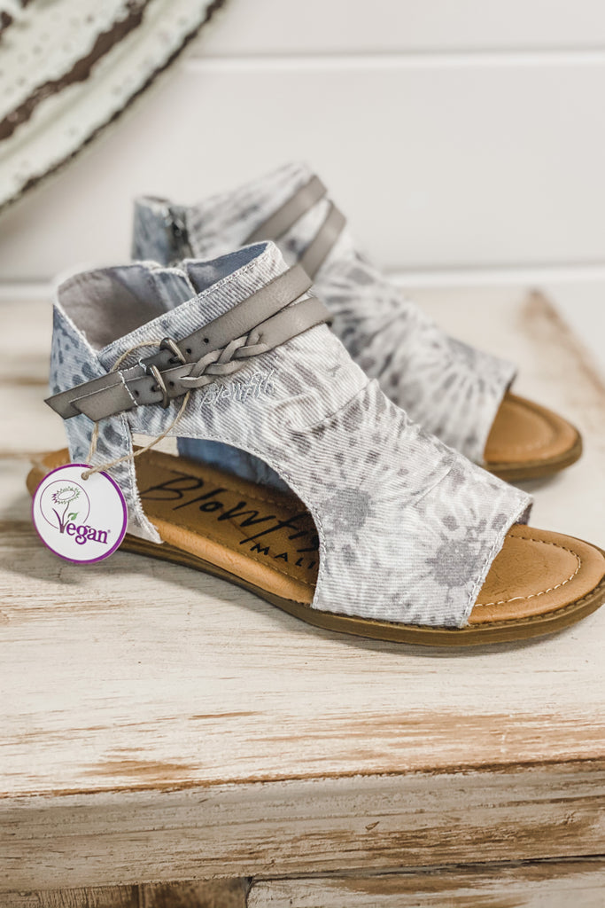 BLOWFISH Blumoon Sandals (Smoke Tie-dye Twill)