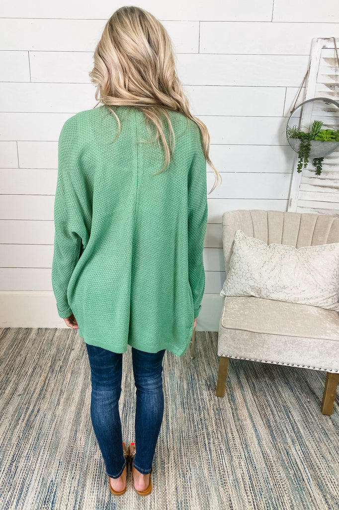 Amazed By You Knit Cardigan (Sage)